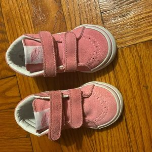 Toddler Pink vans sneakers size 5